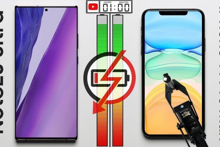Galaxy Note 20 Ultra ve iPhone 11 Pro Max Batarya Testi